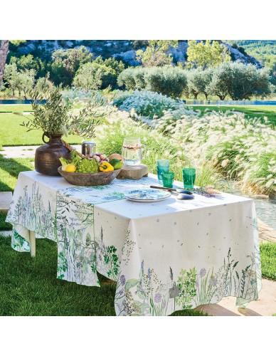 Nappe rectangulaire/carrée Jardin Aromatique floraison