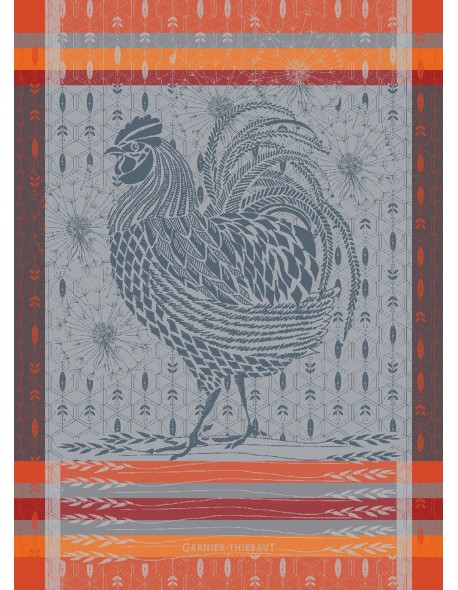 Torchon Coq design orange