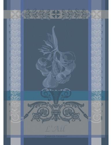 Torchon rectangulaire GARNIER-THIEBAUT Ail ardoise bleu