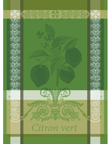 Torchon rectangulaire GARNIER-THIEBAUT Citron vert acide