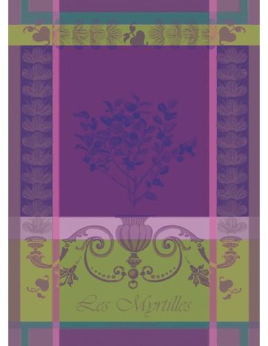 Torchon Myrtilles violet