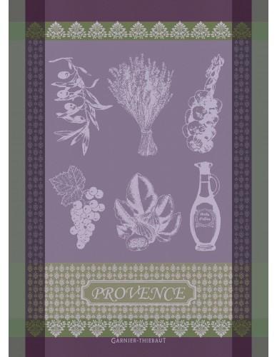 Torchon rectangulaire GARNIER-THIEBAUT Provence lavande