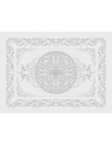 Set de table rectangulaire GARNIER-THIEBAUT Comtesse blanc