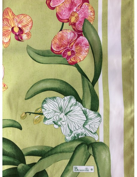 Serviette de table Orchidées vert