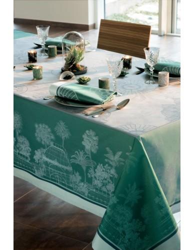 Nappe rectangulaire GARNIER-THIEBAUT Serres Royales vert empire