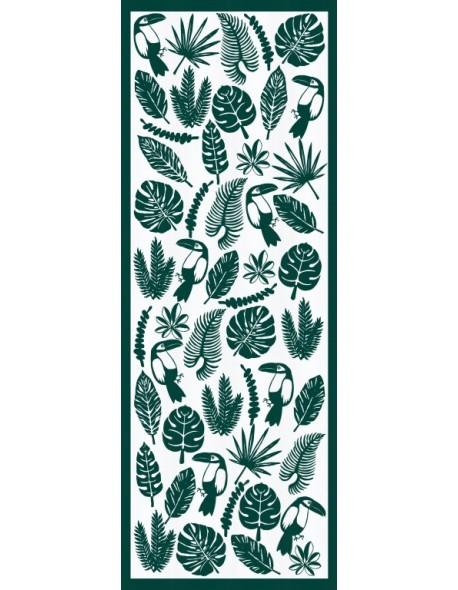 Chemin de table Toucan vert