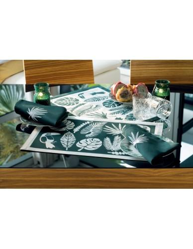 Set de table rectangulaire GARNIER-THIEBAUT Toucan vert