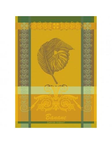 Torchon rectangulaire GARNIER-THIEBAUT Bananier jaune