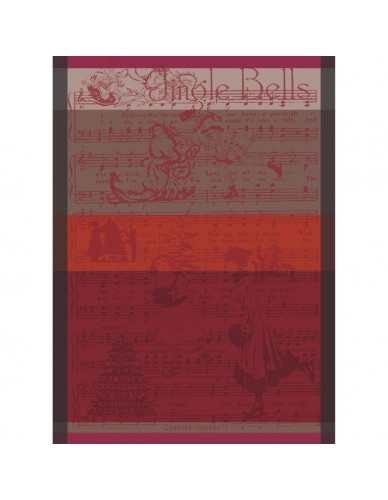 Torchon Jingle Bells cassis