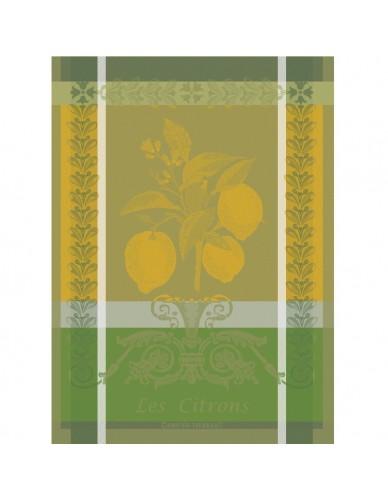 Torchon rectangulaire GARNIER-THIEBAUT Citron zeste vert