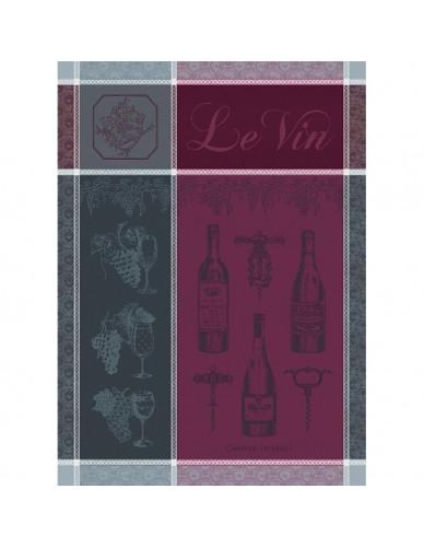 Torchon rectangulaire GARNIER-THIEBAUT Le vin syrah