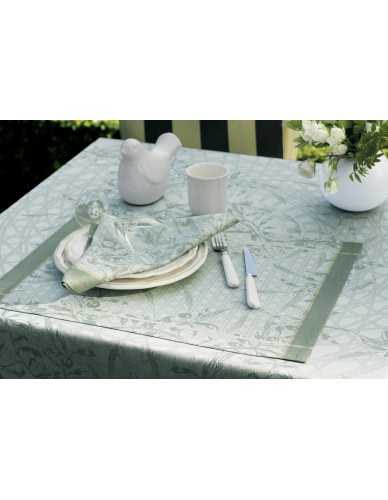 Set de table déperlant, rectangulaire Perséphone olive