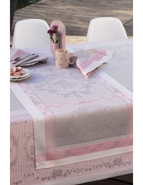 Chemin de table Lysandra rose