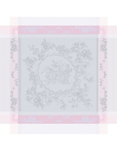 Serviette de table Lysandra rose