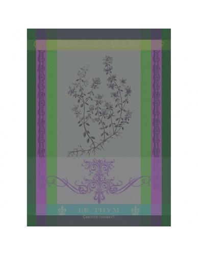 Torchon rectangulaire Garnier-Thiebaut Brin de thym vert